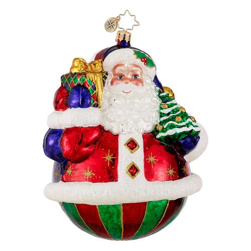 A Festive Pair Santa Snowman Radko Ornament