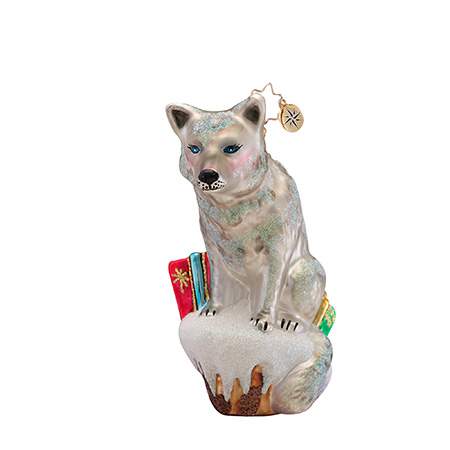 A Friendly Wolf Animal  (retired) Radko Ornament