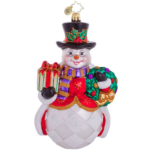 A Jolly Good Fella Snowman  (retired) Radko Ornament
