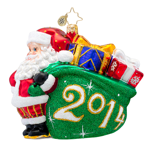 A Jolly Year 2014 Dated  (retired) Radko Ornament