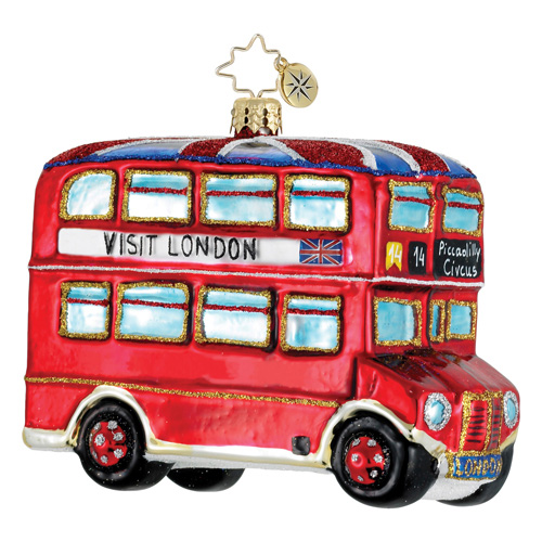 A Londes London Bus  (retired) Radko Ornament