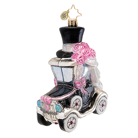 A Model Wedding Black Car  (retired) Radko Ornament
