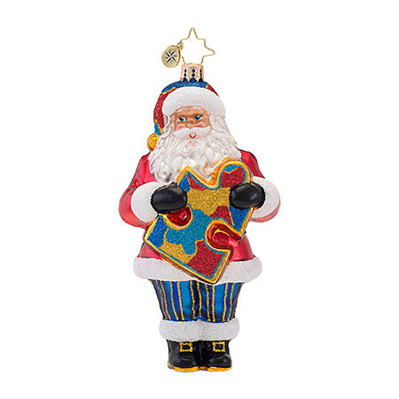 A Very Important Piece Autism  (retired) Radko Ornament