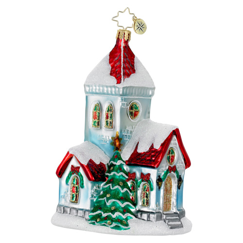 A Very Merry Mass Church Radko Ornament