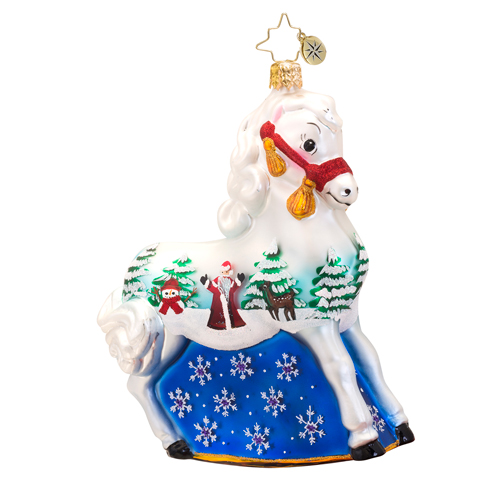 A Winters Tale Pony  (retired) Radko Ornament