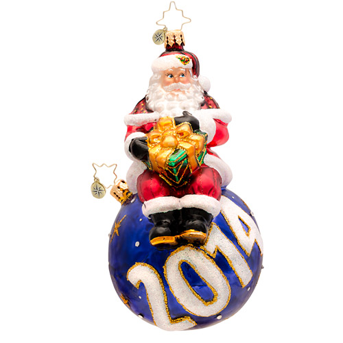 A Year For Cheer 2014 Dated  (retired) Radko Ornament