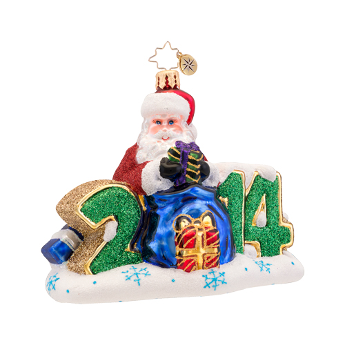 A Year To Give Ornament (retired) Radko Ornament