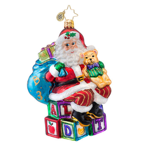 Abc Santa  (retired) Radko Ornament