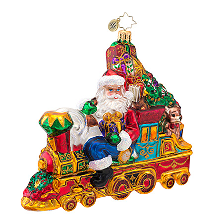 All Aboard For Christmas Santa Train Ornament (retired) Radko Ornament