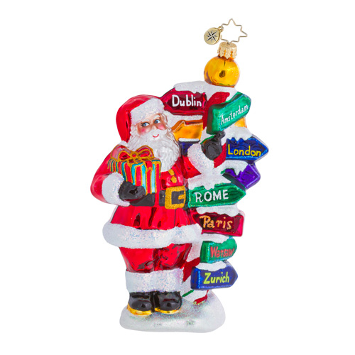All Around The World Santa Travel Radko Ornament