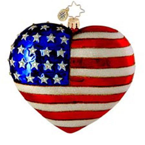 Amazing Grace Patriotic Usa  (retired) Radko Ornament