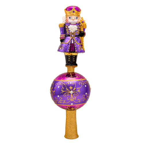 Amethyst Guard Finial (retired) Radko Ornament