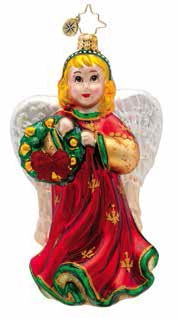 Angelic Anna Ornament (retired) Radko Ornament