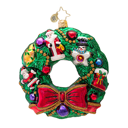 Baubles And Bows Wreath Radko Ornament