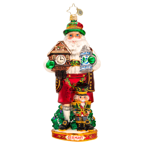 Bavarias Best Germany Santa Ornament Radko Ornament