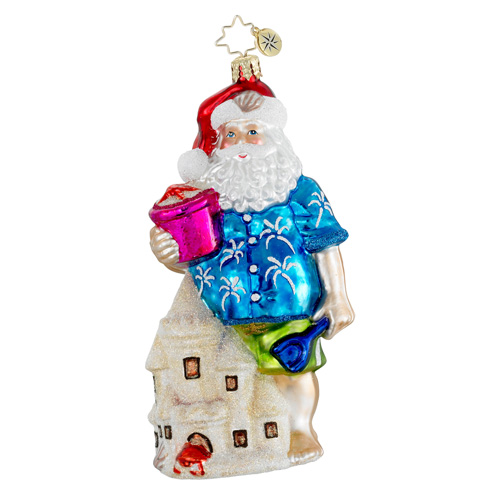 Beach Builder Santa  (retired) Radko Ornament