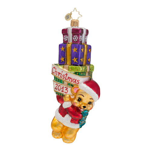 Beary Merry 2013 Dated Christmas!  (retired) Radko Ornament