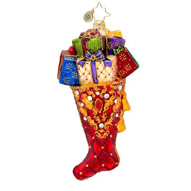 Beautifully Stocked Stocking Radko Ornament