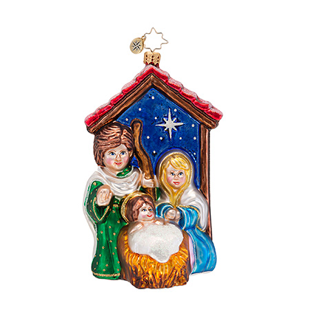 Blessed Birth Nativity Scene  (retired) Radko Ornament