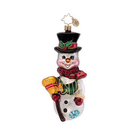 Bobblin' Bob Snowman Bobblehead  (retired) Radko Ornament