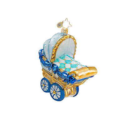 Bouncing Baby Buggy Boy Radko Ornament