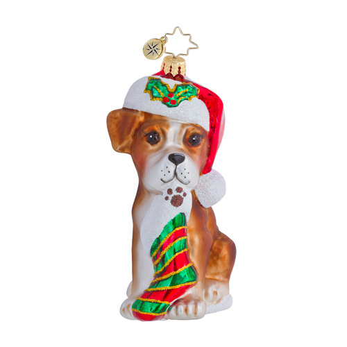 Boxer Bradley Dog  (retired) Radko Ornament