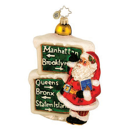 Bright Lights, Big Wishes Santa  (retired) Radko Ornament