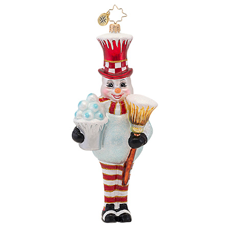 Bucket Of Fun Frosty Snowman Ornament (retired) Radko Ornament