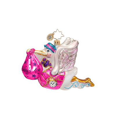 Bundle Of Joy Girl Pink Radko Ornament