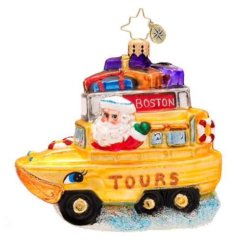 By Land Or By Sea Boston  (retired) Radko Ornament