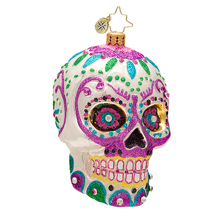 Calavera White Skull  (retired) Radko Ornament