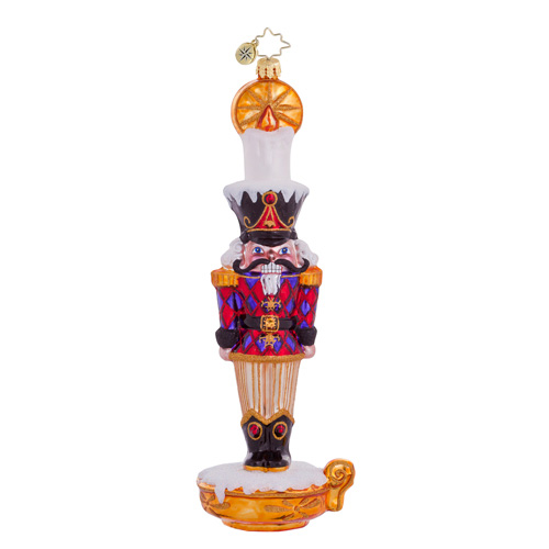 Candle Cracker Nutcracker Ornament (retired) Radko Ornament
