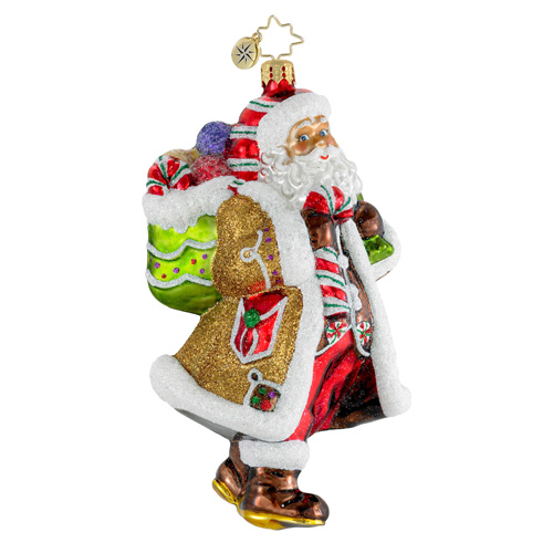 Candy Claus Santa  (retired) Radko Ornament