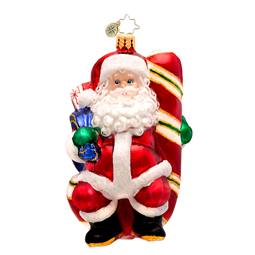 Candy Swing Delight Santa  (retired) Radko Ornament