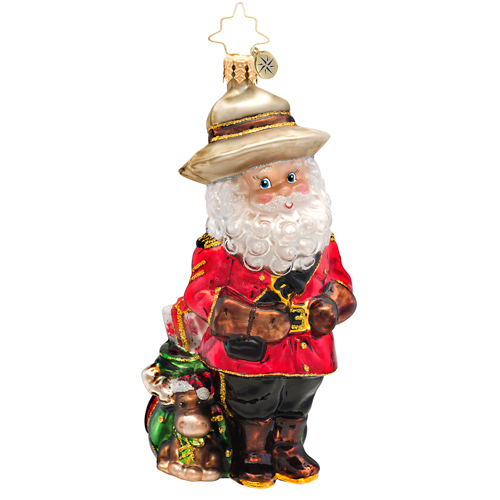 Canuck Claus Ornament (retired) Radko Ornament