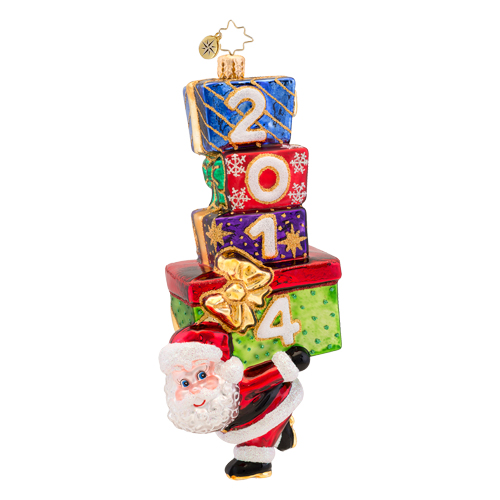 Carry In The Year 2014 Dated  (retired) Radko Ornament