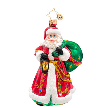 Carrying The Joy Ornament Radko Ornament