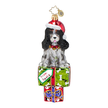 Charlie Spaniel Dog  (retired) Radko Ornament