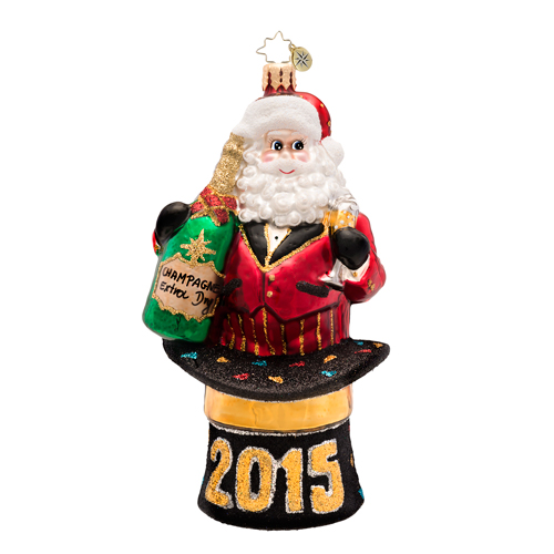 Cheers The Year 2015 Dated New Year's Ornament (retired) Radko Ornament