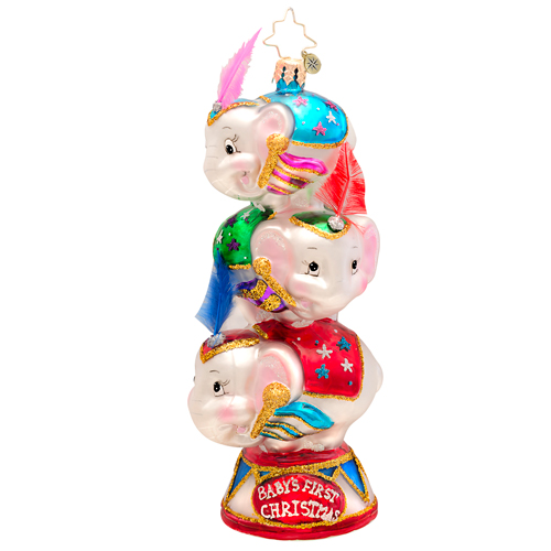 Circus Star Trio Baby's First Radko Ornament