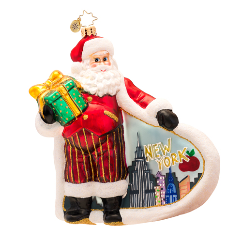City Scape New York Santa  (retired) Radko Ornament
