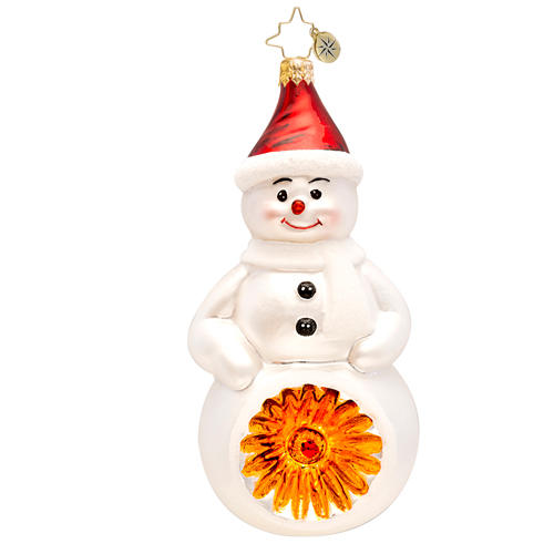 Classic Snowman Reflector  (retired) Radko Ornament