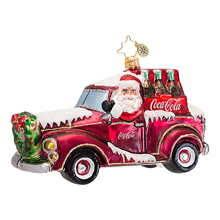 Coke Cruiser Car  (retired) Radko Ornament