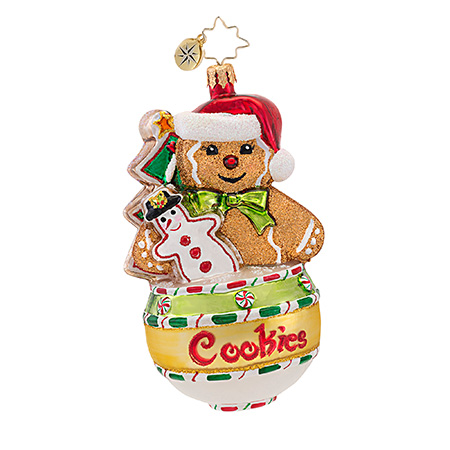 Cookie Jar Jams Gingerbread Man Radko Ornament