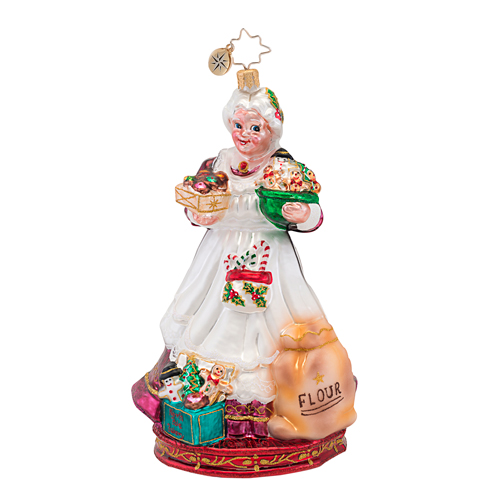 Cookies To Go! Mrs. Claus Ornament (retired) Radko Ornament