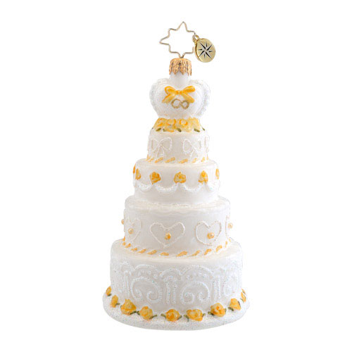 Cut The Cake Wedding Radko Ornament