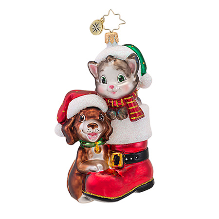 Cute In A Boot Animal  (retired) Radko Ornament