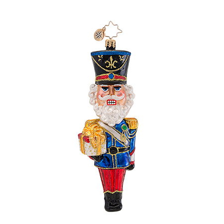Dashing Dangle Head Nutcracker Bobblehead Ornament (retired) Radko Ornament