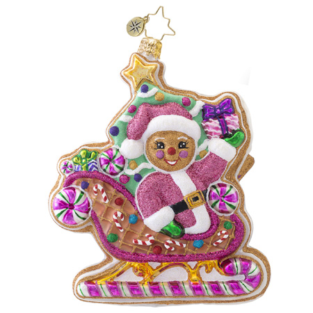 Dashing Through The Icing Radko Ornament
