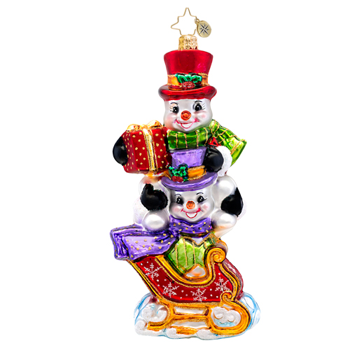 Dashing Through The Snow Radko Ornament